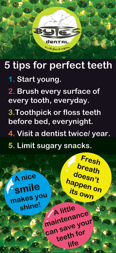 Five tips for perfect teeth.