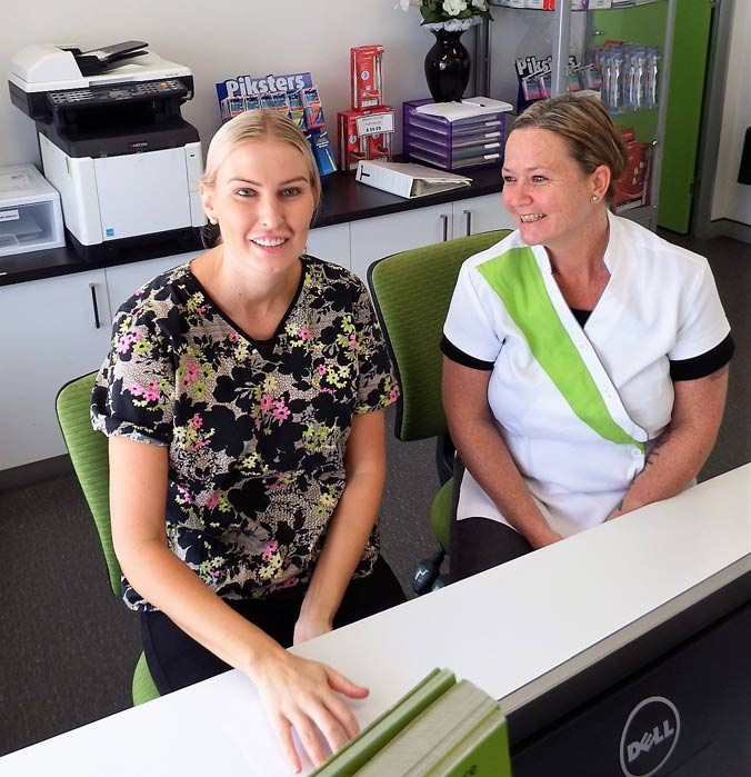Receptionists at the dentist